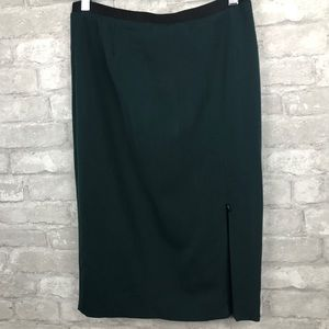 Zara | Pencil Skirt Hunter Green with Zipper Split